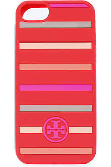 TORY BURCH Striped logo iPhone case