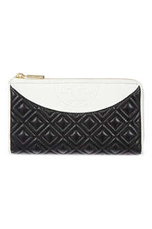 TORY BURCH Fleming quilted leather wallet