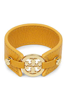 TORY BURCH Skinny leather logo cuff