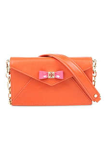 TORY BURCH Bow envelope cross-body bag