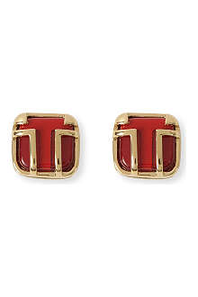TORY BURCH Travis resin stud earrings