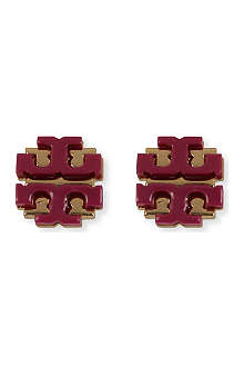 TORY BURCH Resin T logo stud earrings