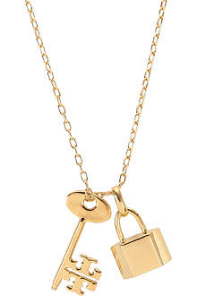 TORY BURCH Riley lock and key pendant