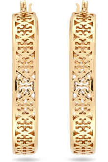 TORY BURCH Kinsley hoop earrings