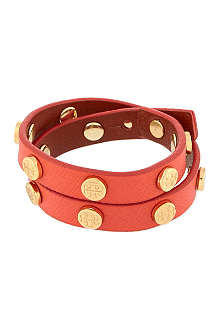 TORY BURCH Leather studded wrap bracelet