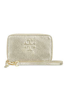 TORY BURCH Thea metallic phone wristlet