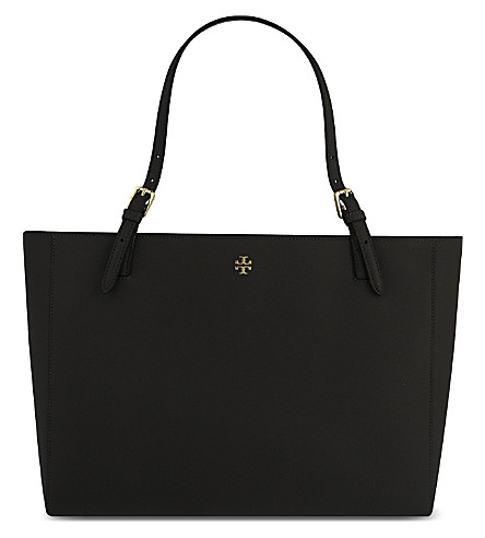 TORY BURCH York leather tote (Black