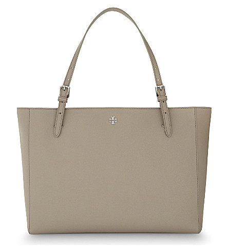 TORY BURCH York leather tote (French+grey