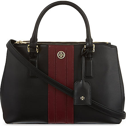 TORY BURCH Robinson mini zip tote (Black