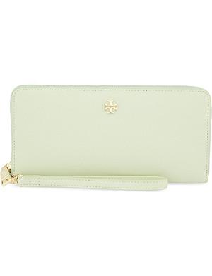 TORY BURCH York Saffiano leather zip-around wallet