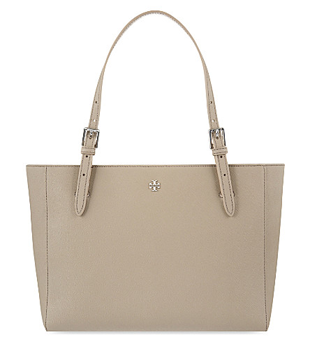 TORY BURCH York small leather tote (French+gray