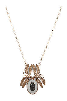 TORY BURCH Mirrored dragonfly pendant necklace