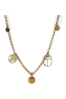 TORY BURCH Winslow 16ct gold-plated charm rosary