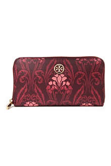 TORY BURCH Robinson floral leather wallet