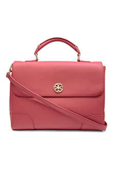 TORY BURCH Robinson saffiano-leather tote
