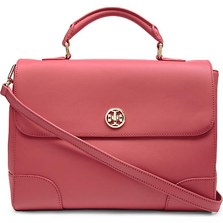TORY BURCH Robinson saffiano-leather tote (Rouge