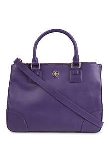 TORY BURCH Robinson double-zip saffiano-leather tote