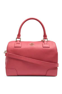 TORY BURCH Robinson middy saffiano-leather satchel