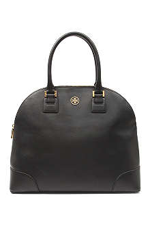 TORY BURCH Robinson saffiano leather satchel
