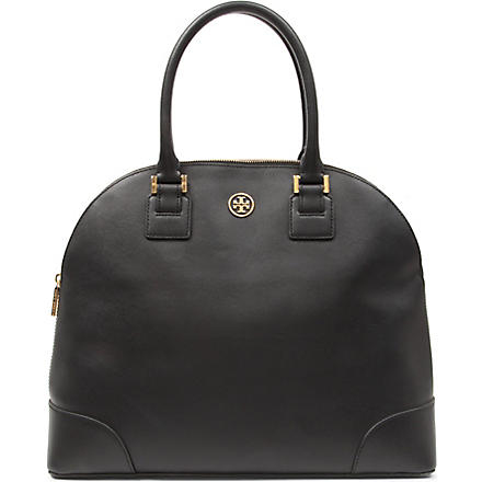 TORY BURCH Robinson saffiano leather satchel (Black