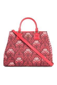 TORY BURCH Robinson patterned coated-canvas tote