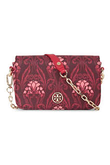 TORY BURCH Robinson patterned coated-canvas shoulder bag
