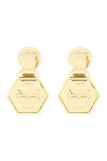 TORY BURCH Geometric teardrop earrings