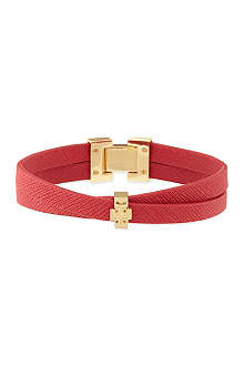 TORY BURCH Leather crossover bracelet