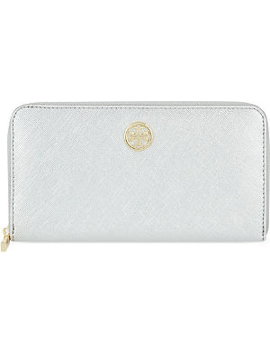 TORY BURCH Robinson metallic leather wallet