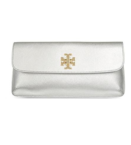 TORY BURCH Diana slim clutch (Silver