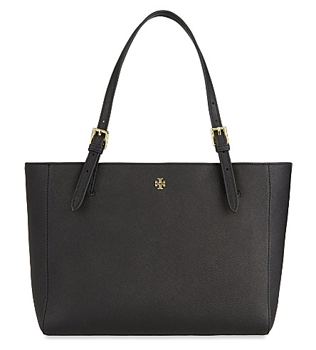 TORY BURCH York small leather tote (Black