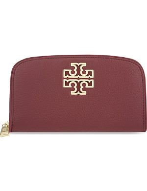 TORY BURCH Britten leather continental wallet