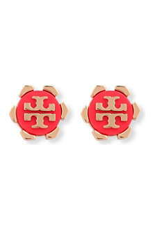 TORY BURCH Walter logo earrings