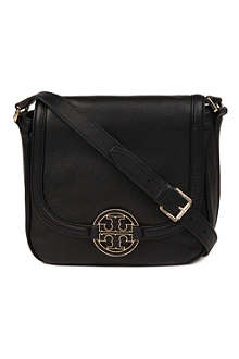 TORY BURCH Amanda leather round messenger bag