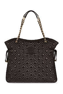 TORY BURCH Marion quilted slouchy leather tote