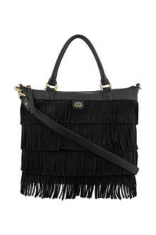 TORY BURCH Fringed suede tote bag