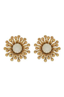TORY BURCH Pearl floral stud earrings