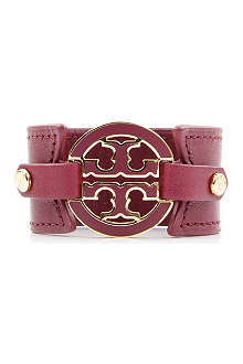 TORY BURCH Leather snap cuff bracelet