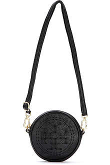TORY BURCH Leather round across-body bag