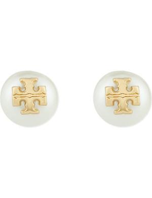 TORY BURCH Evie pearl stud earrings