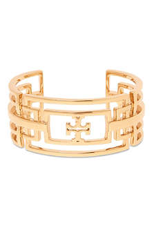 TORY BURCH Ashley 16ct gold-plated cuff bracelet