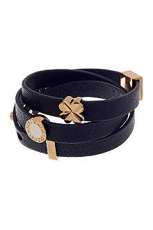 TORY BURCH Slide charm triple wrap bracelet