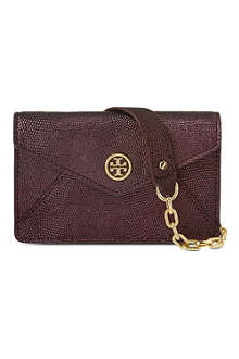 TORY BURCH Brittany leather envelope cross-body bag