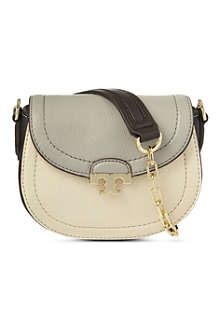 TORY BURCH Sammy pebbled leather cross-body bag