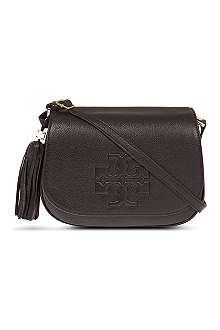 TORY BURCH Thea pebbled leather cross-body bag