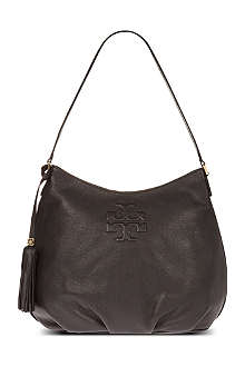 TORY BURCH Thea pebbled leather hobo shoulder bag