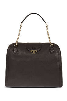 TORY BURCH Sammy pebbled leather satchel