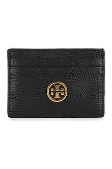 TORY BURCH Robinson slim leather card case