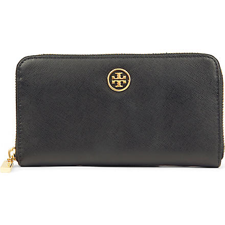 TORY BURCH Robinson leather wallet (Black