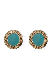 TORY BURCH Cole enamel stud earrings